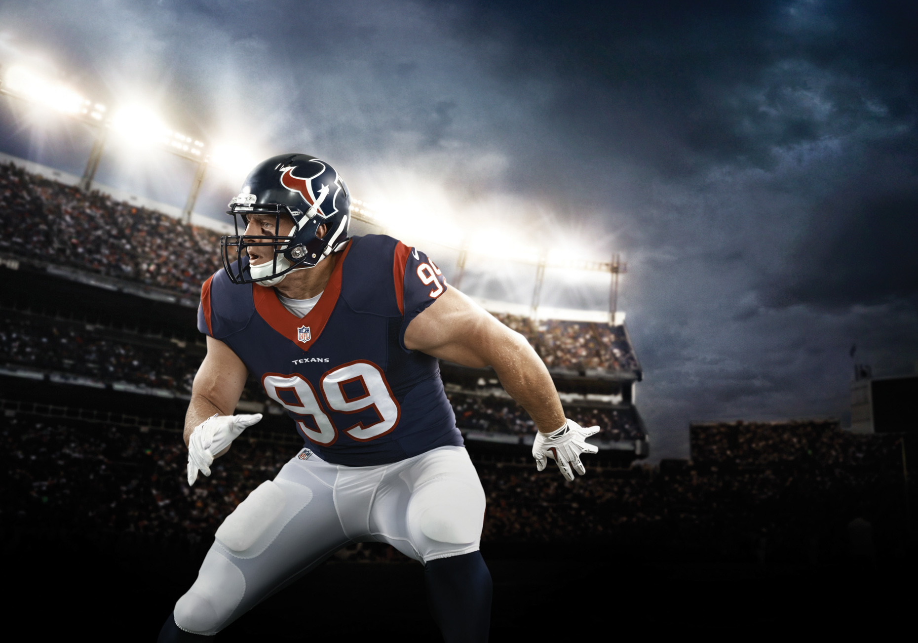 "Justin James ""J. J."" Watt is an American football defensive end for the Houston Texans of the National Football League."