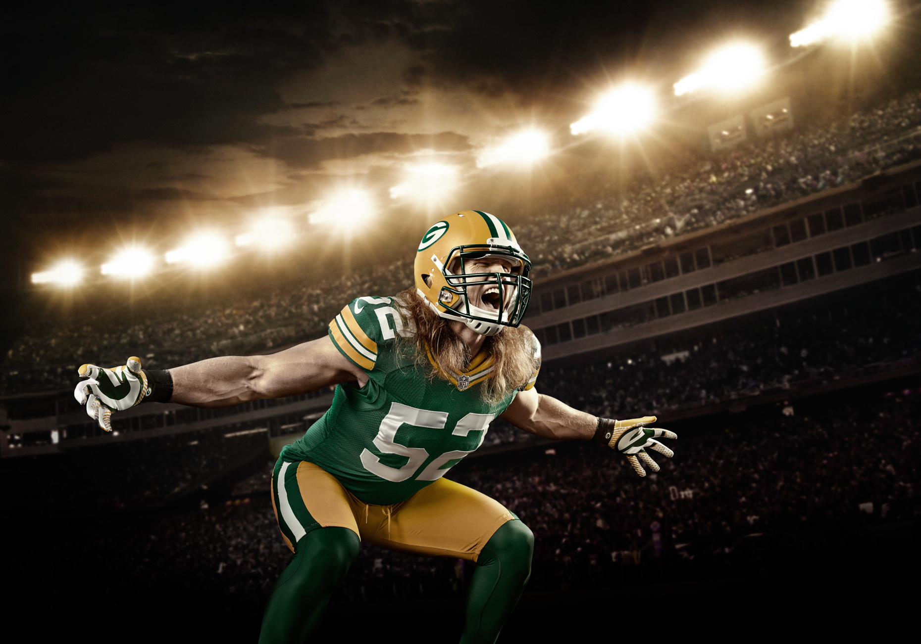 Clay Matthews is an American football outside linebacker for the Green Bay Packers of the National Football League