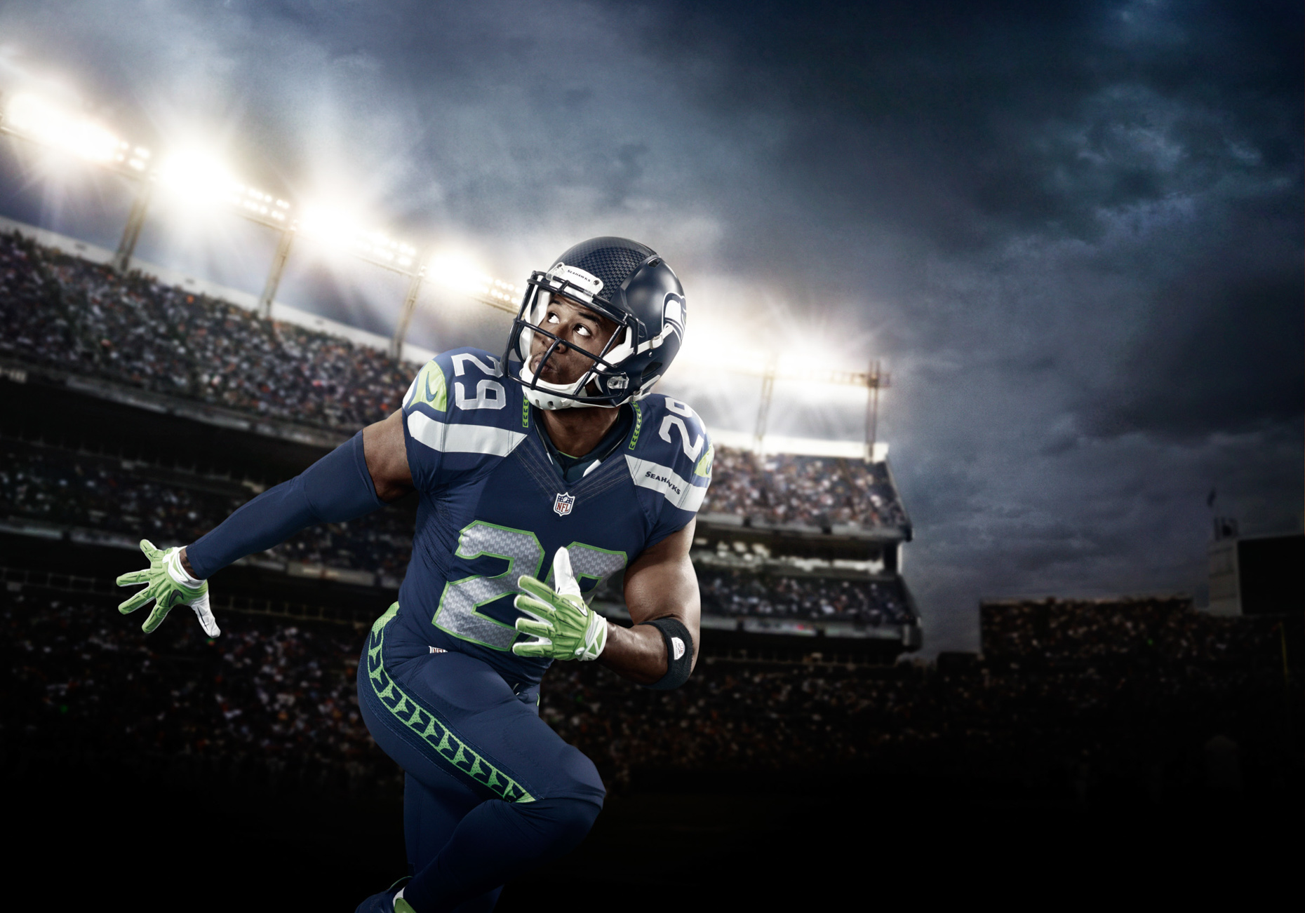 Seattle Seahawk Earl Thomas for Verizon NFL
