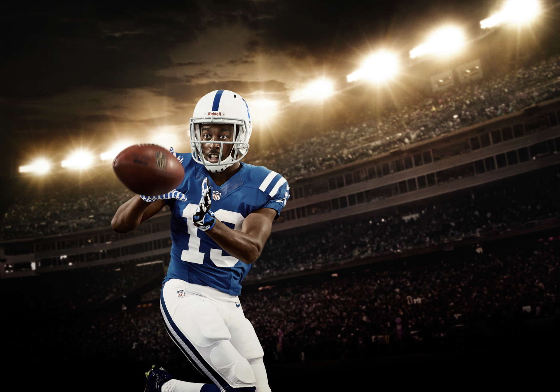 T. Y. Hilton is an American football wide receiver for the Indianapolis Colts of the National Football League.