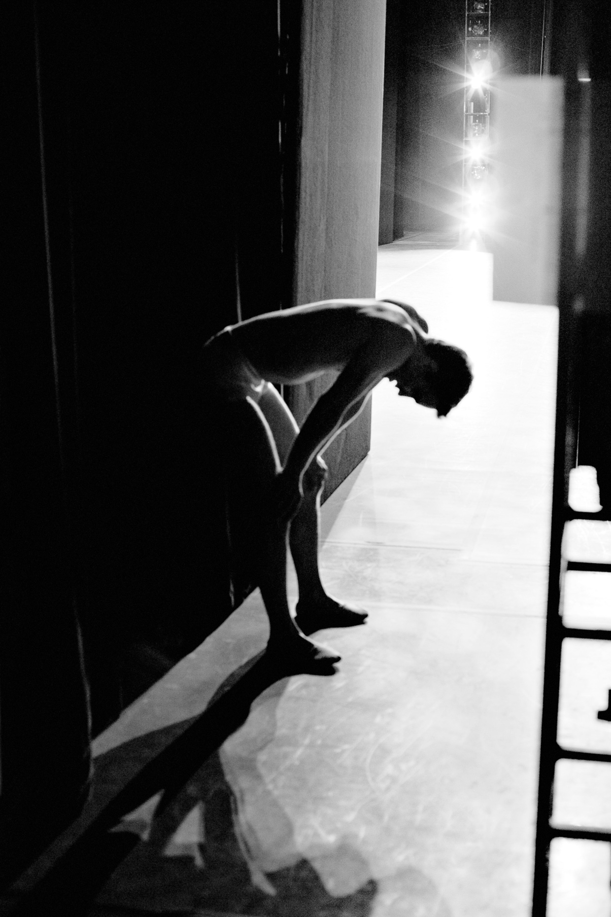 Artur Sultanov catches his breath backstage after performing with Oregon Ballet Theatre.