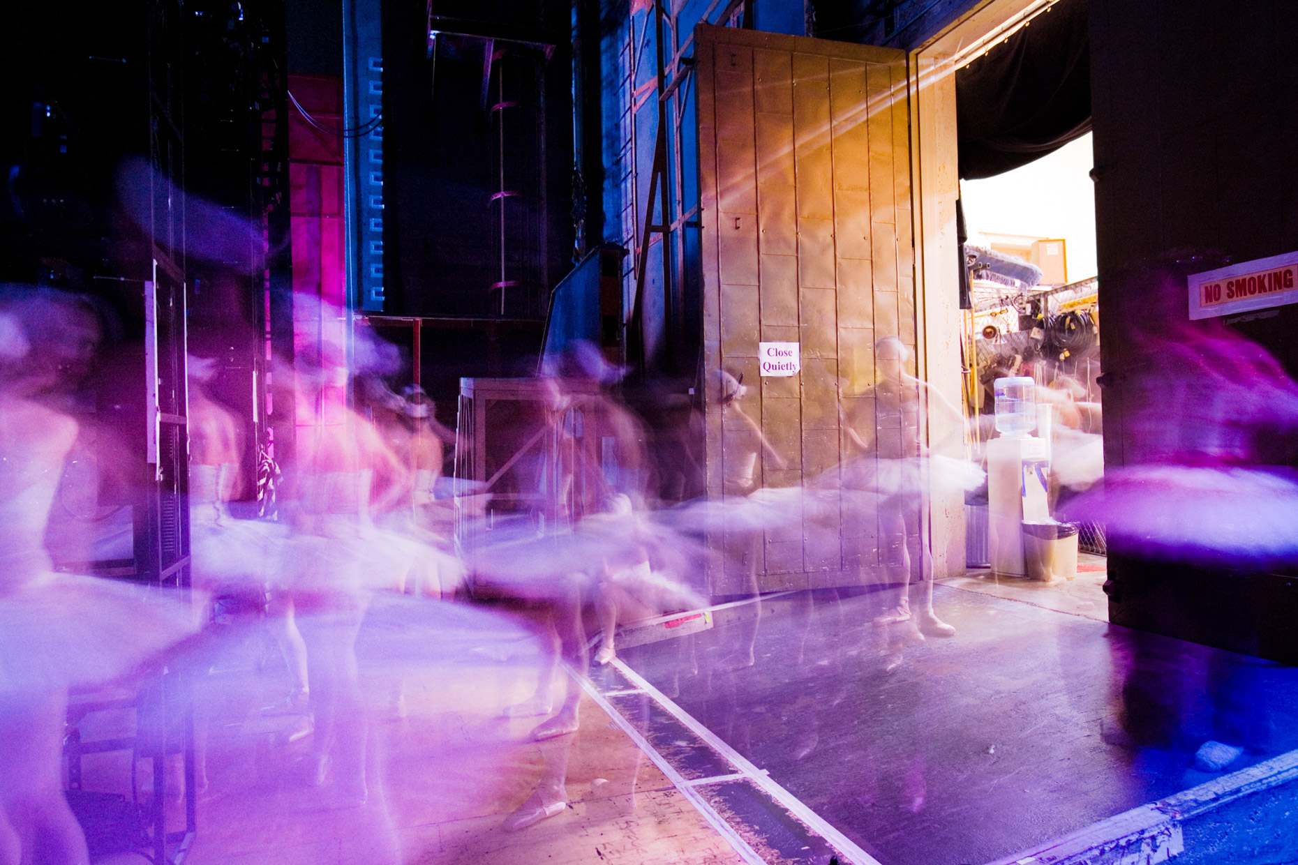 Swan Lake, backstage with Oregon Ballet Theatre.