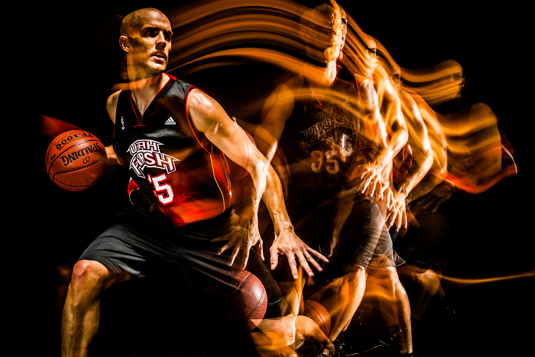 stroboscopic basketball Utah Flash