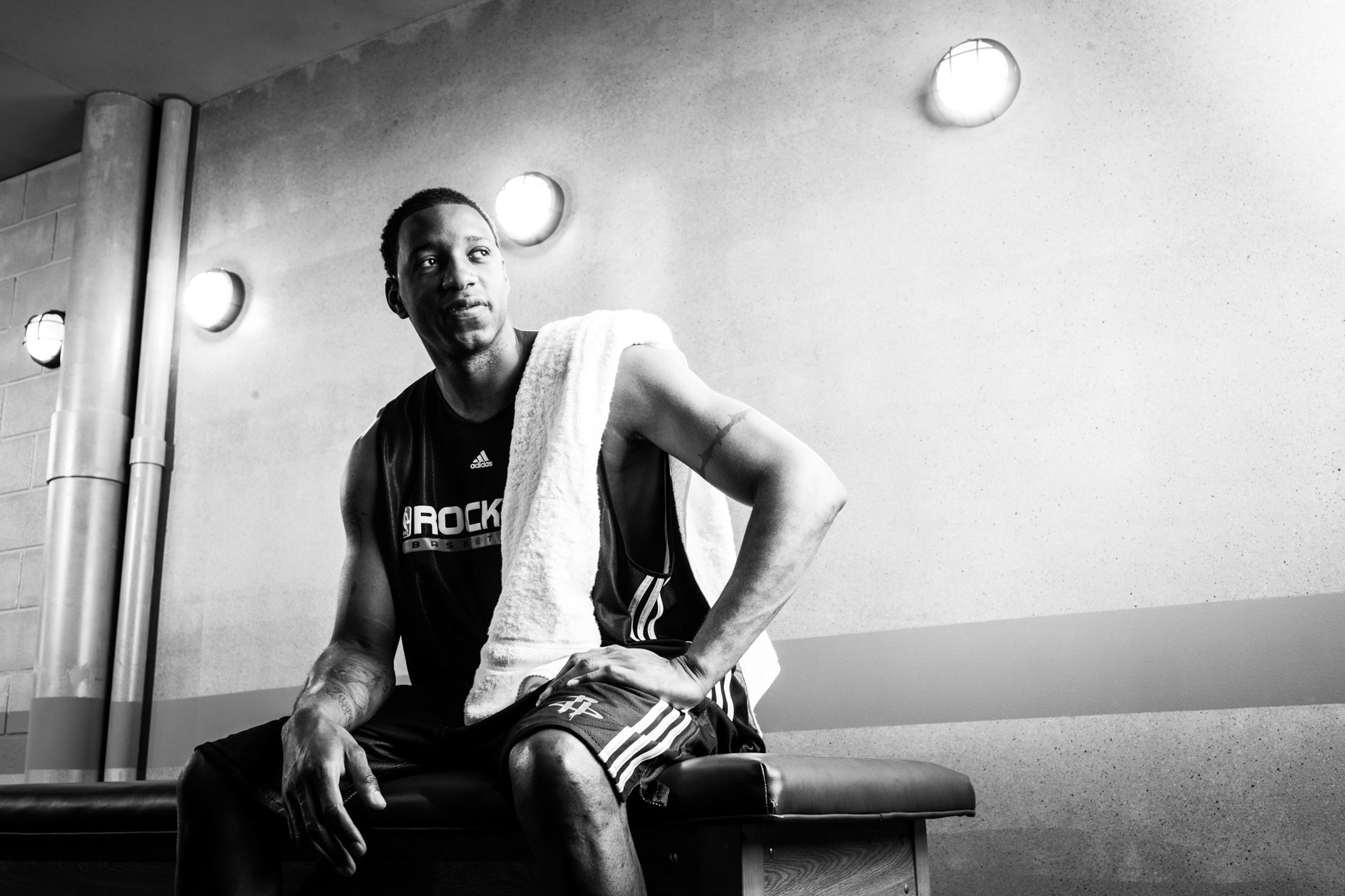 NBA basketball player Tracy McGrady, photographed by dramatic sport photographer Andy Batt