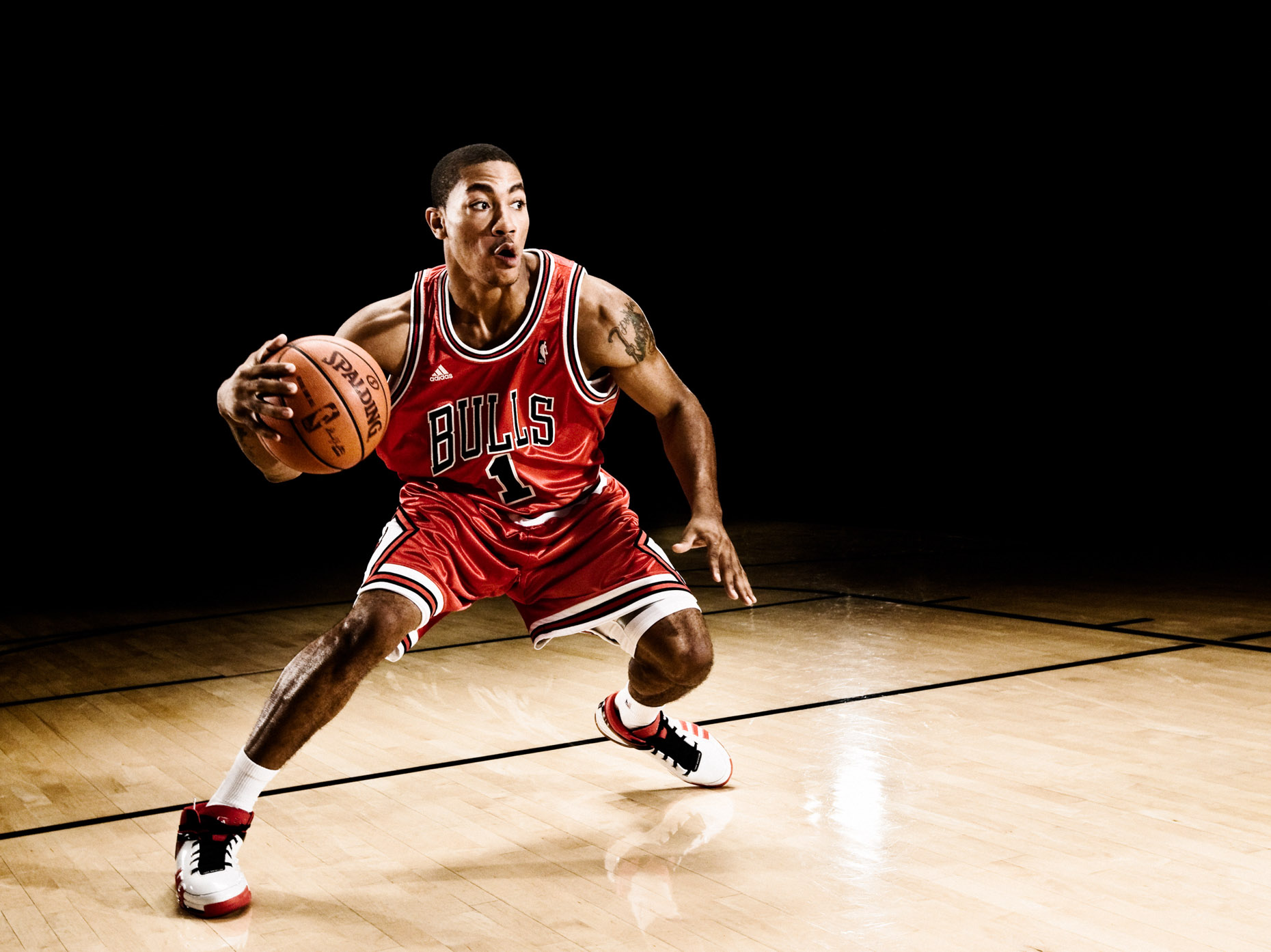 Adidas 2008 rookie shoot with Derrick Rose