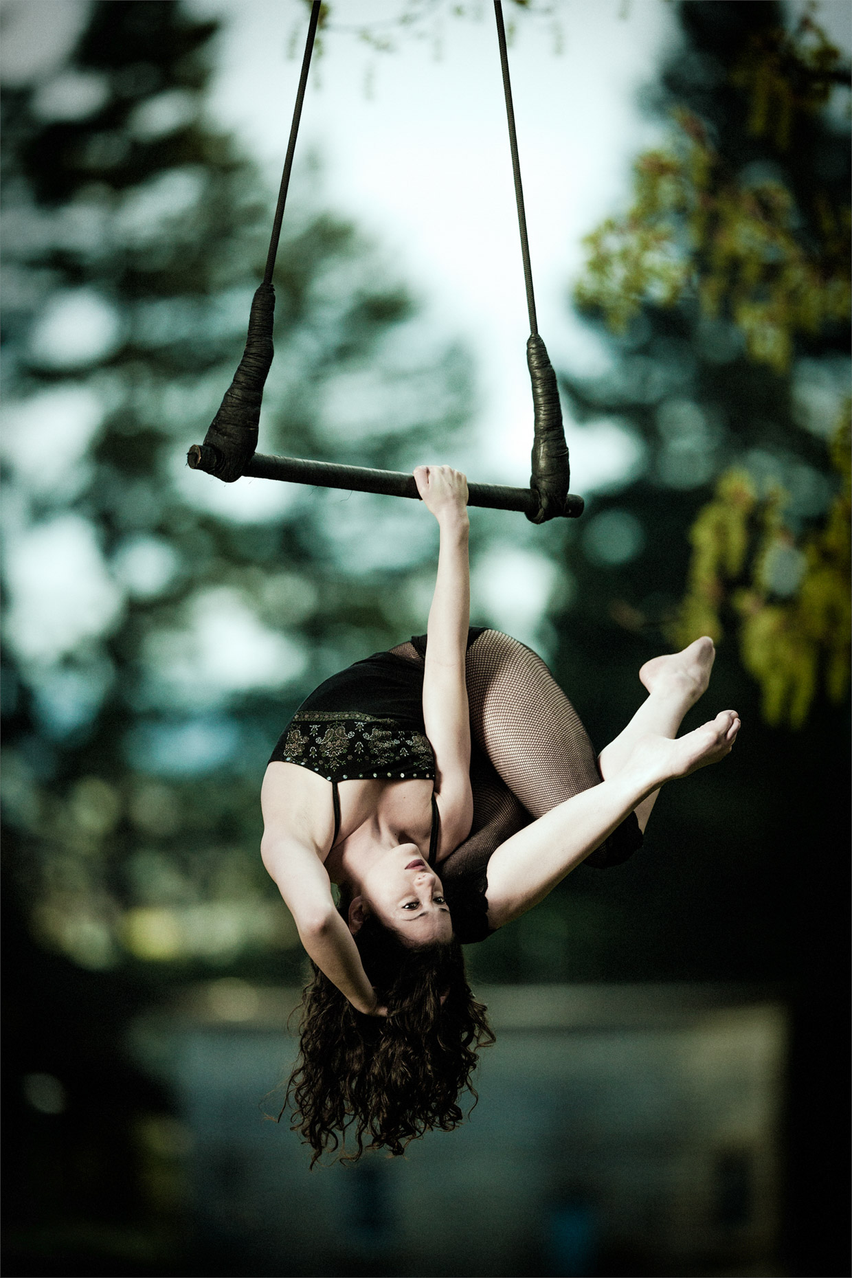 Trapeze performer Sy Parrish