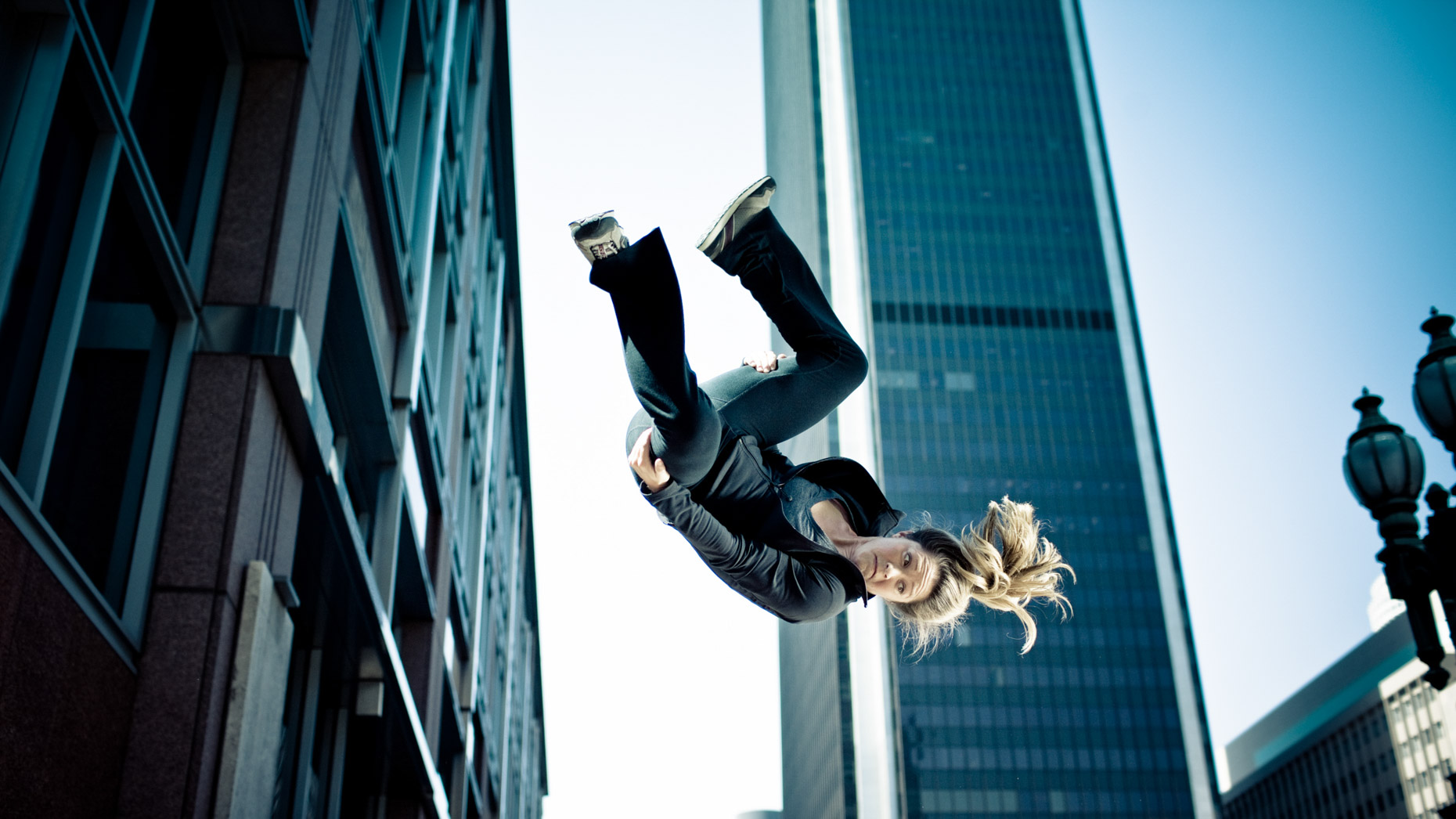 Professional stuntwoman Luci Romberg by Professional sport photographer Andy Batt.