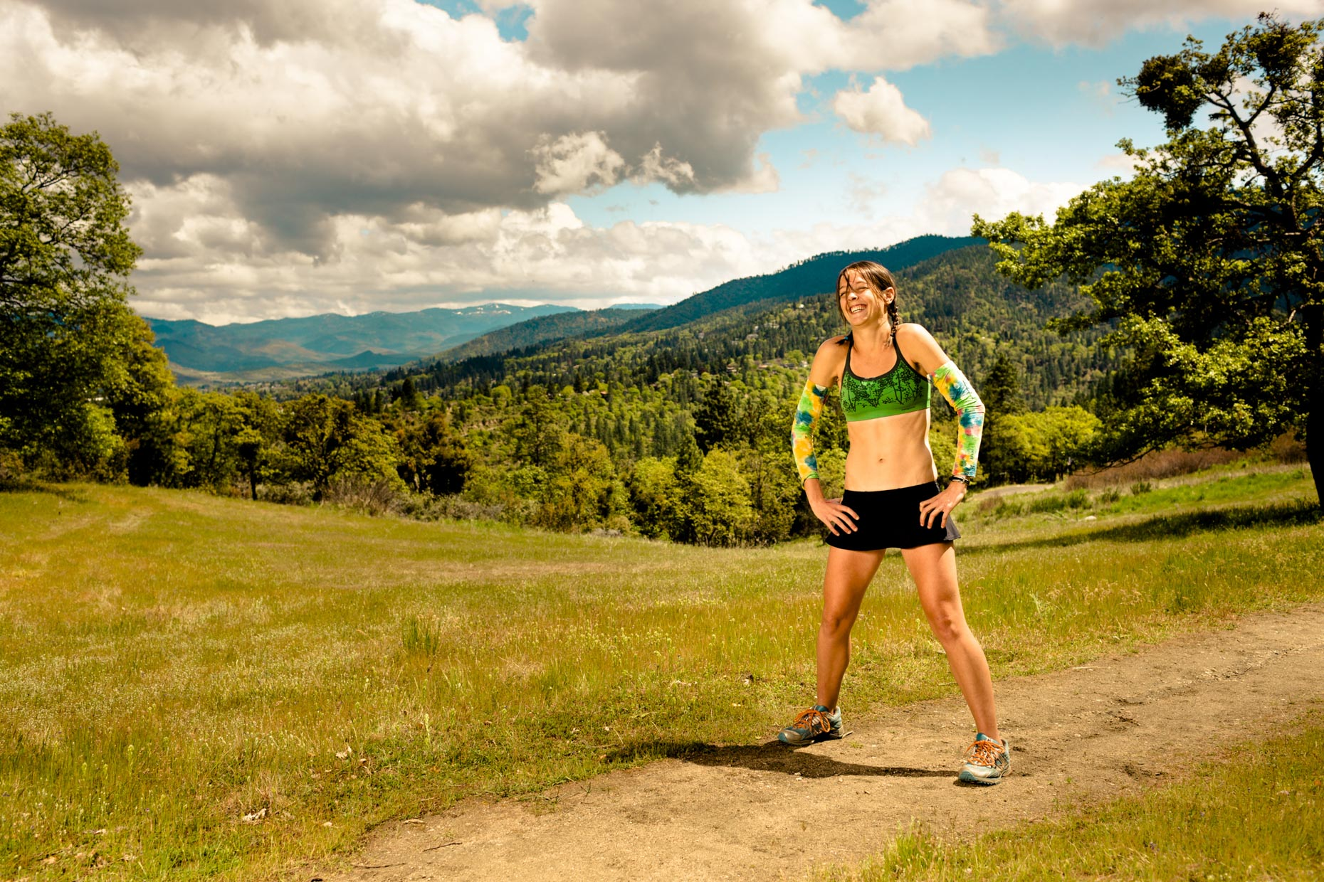 Ultramarathon runner Jenn Shelton for Outside MagazineUltramarathon runner Jenn Shelton is fast, and authentic sports photographer Andy Batt is faster. She drinks hard, fights dirty, and runs 100 trail miles faster than any woman alive. Dramatic sports photographer Andy Batt created heroic portraits and authentic, warm portraits of the speedy racer.