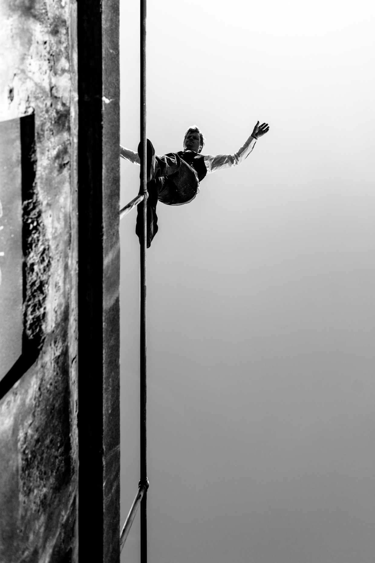 professional stuntman and freerunner Brian Orosco