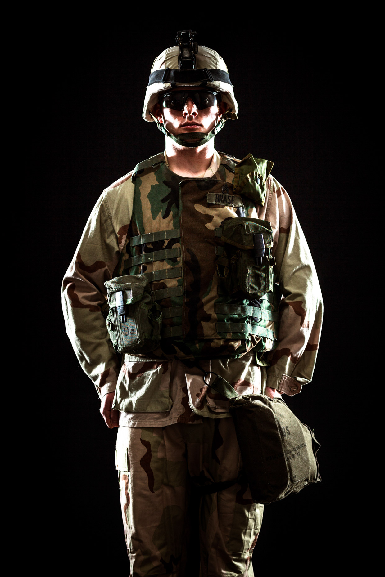 military soldier portrait