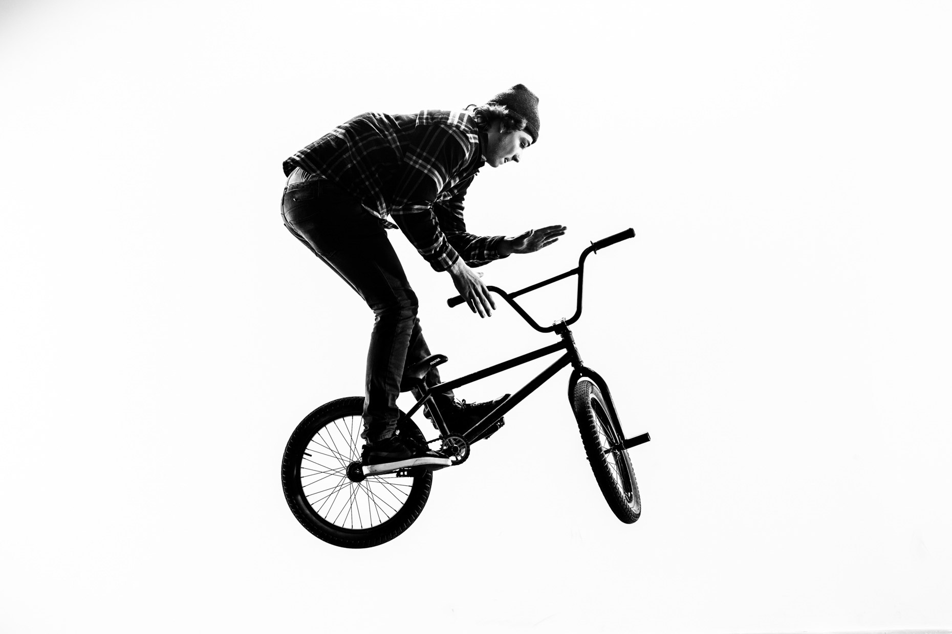BMX flatlander Codie Larsen in action
