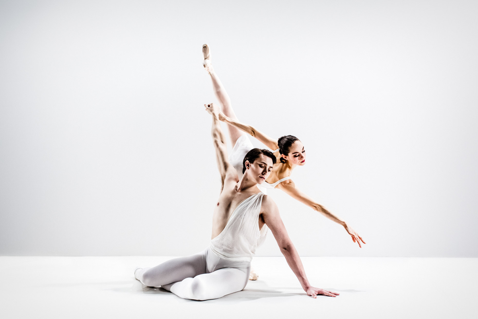 Grace Shibley and Brett Bauer in George Balanchine