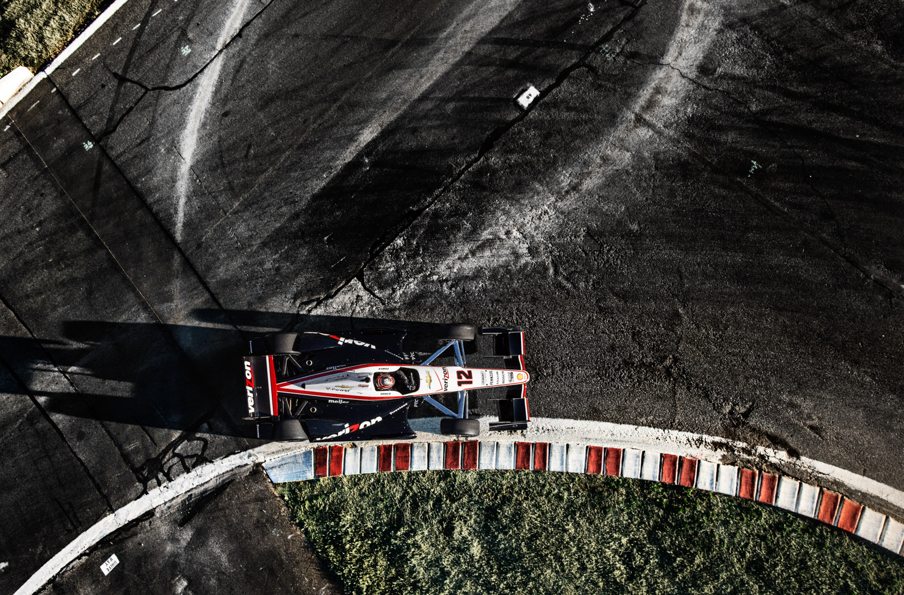 Indycar racecar driver Will Power by dramatic sport photographer Andy Batt