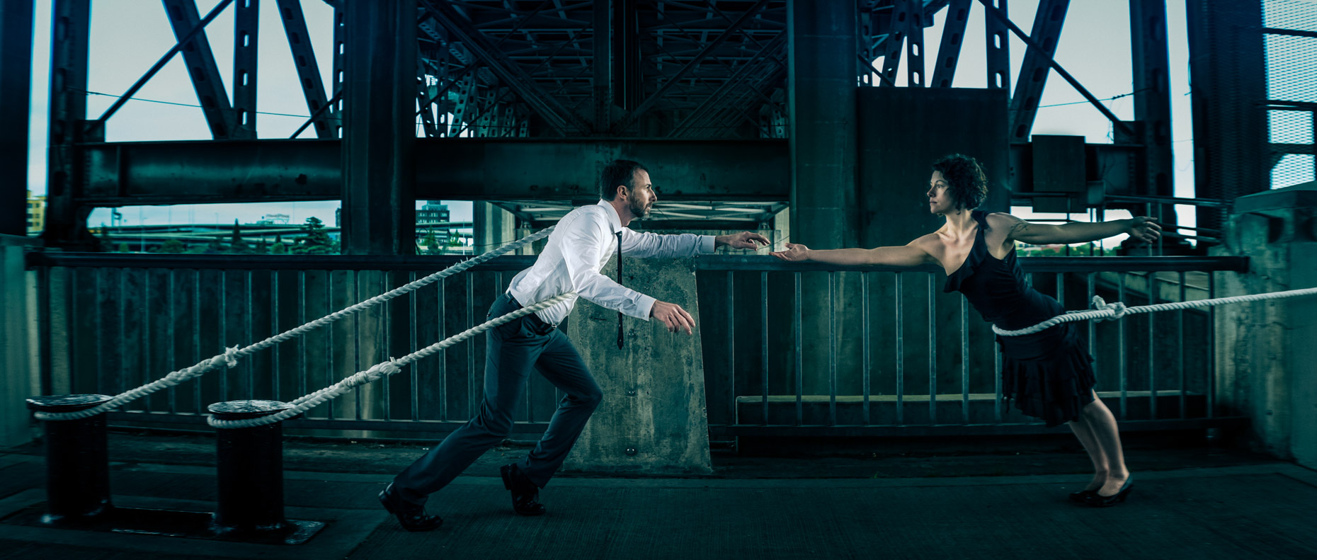modern dancers Noel Plemmons and Rachael Lembo of POV Dance