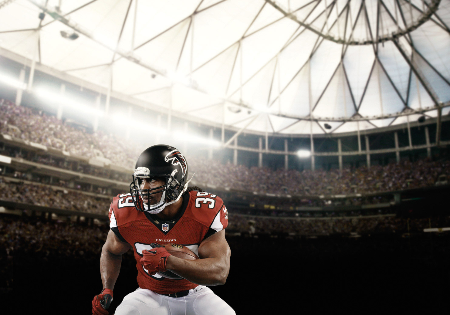 Steven Jackson is an American football running back for the Atlanta Falcons in the NFL