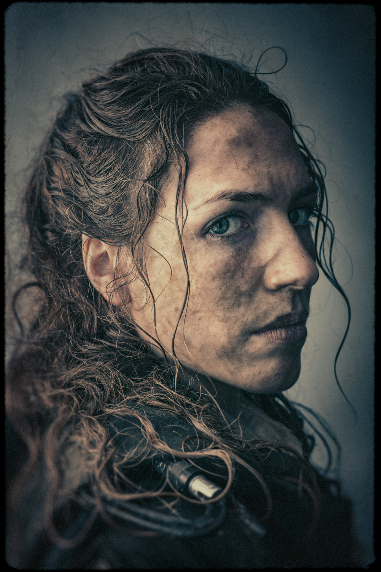Character portrait of model and actor Katie Michels as Ilona in the cinematic series Bad Choices