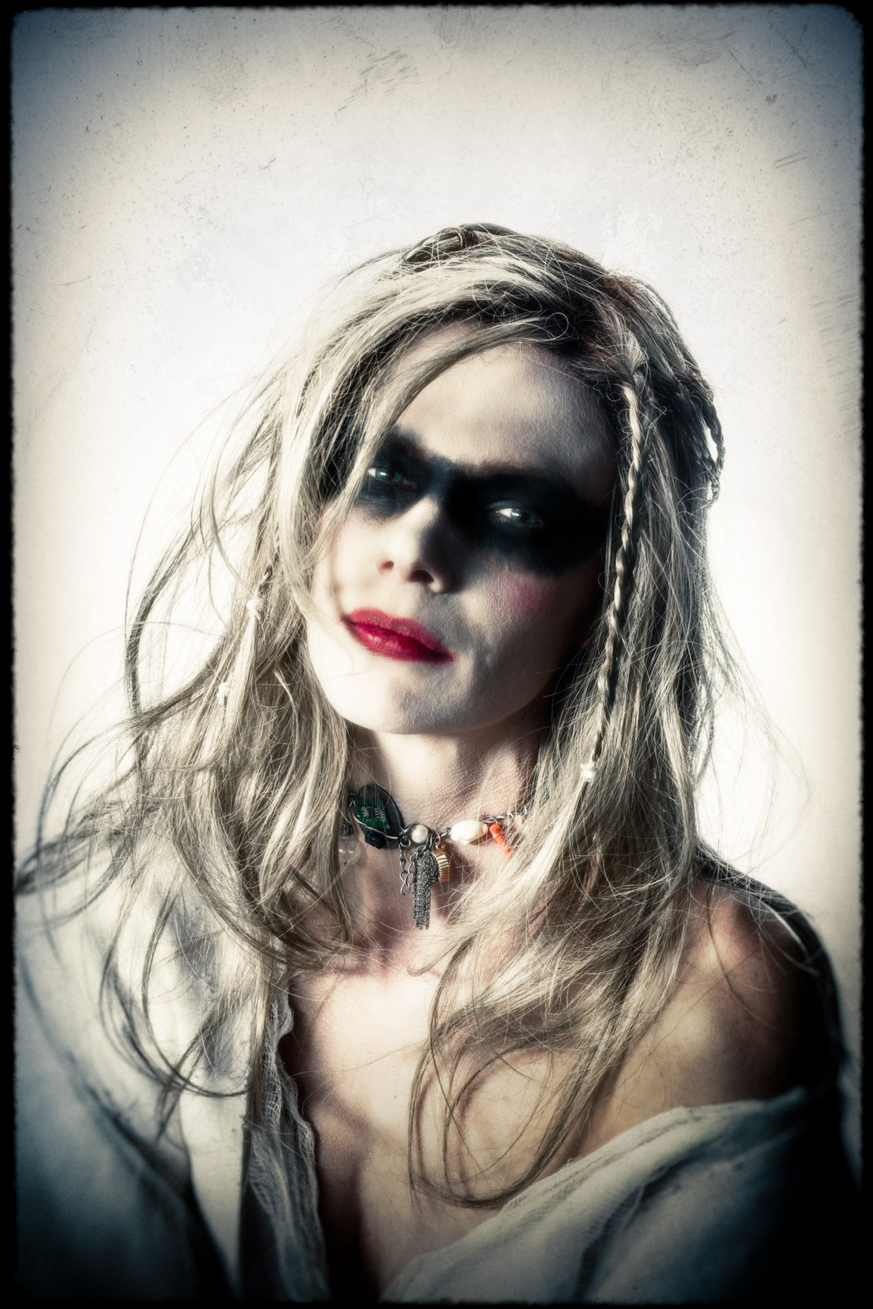 Character portrait of model and actor Brandi Seymour as Isabel in the cinematic series Bad Choices