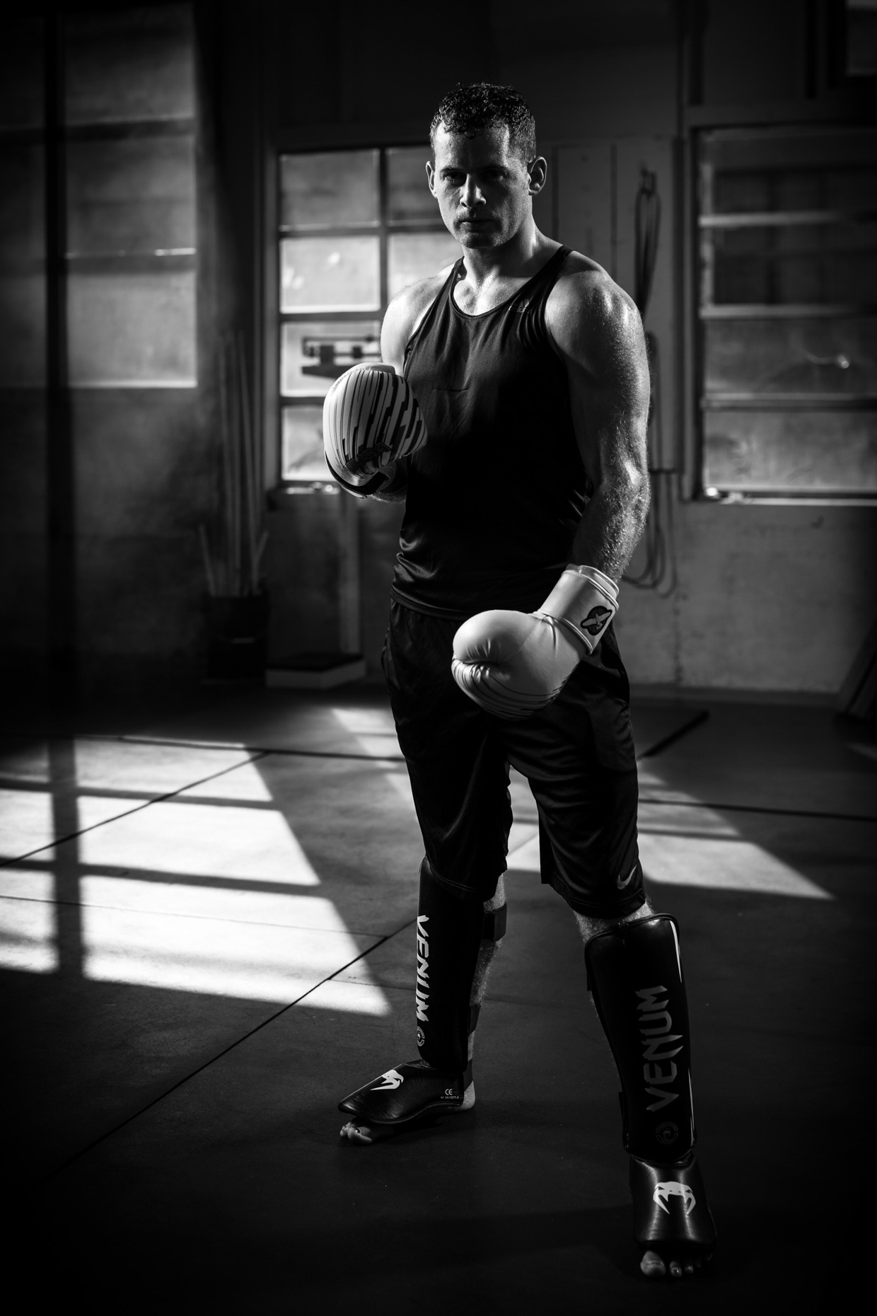 MMA fighter Will Hatcher poses for sport photographer Andy Batt