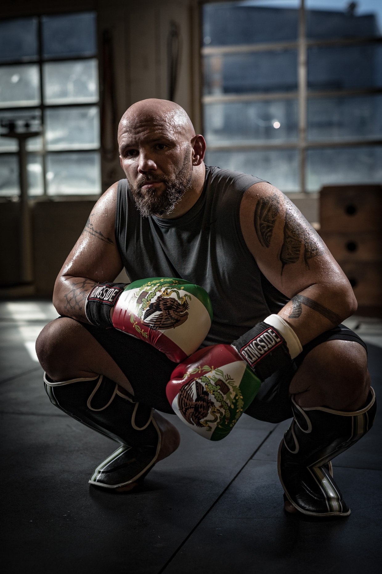 MMA fighter Jose Rodriguez in a crossfit gym in Portland Oregon