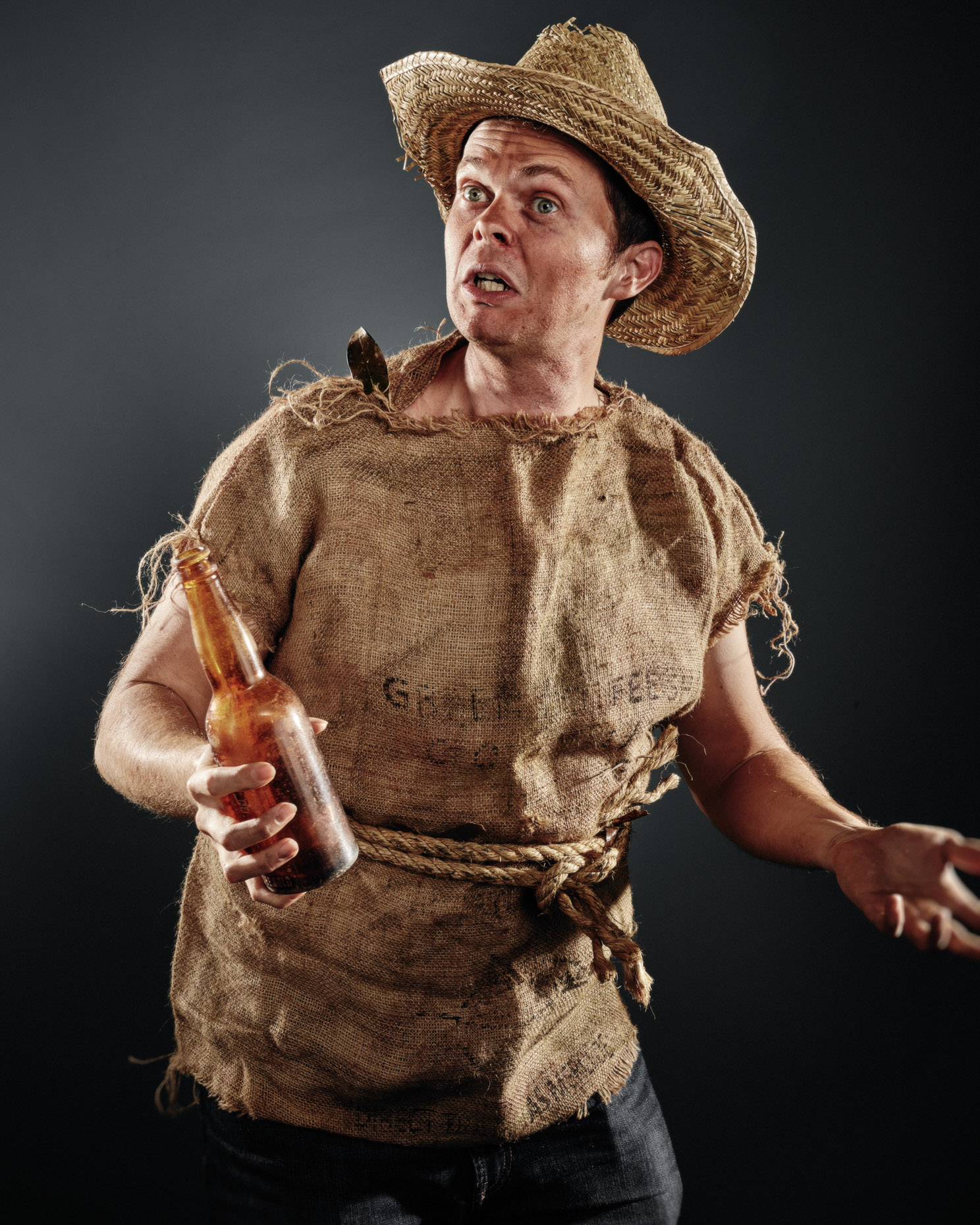 Chase Padgett as CHUNT for Showdown at Curious Comedy Theater