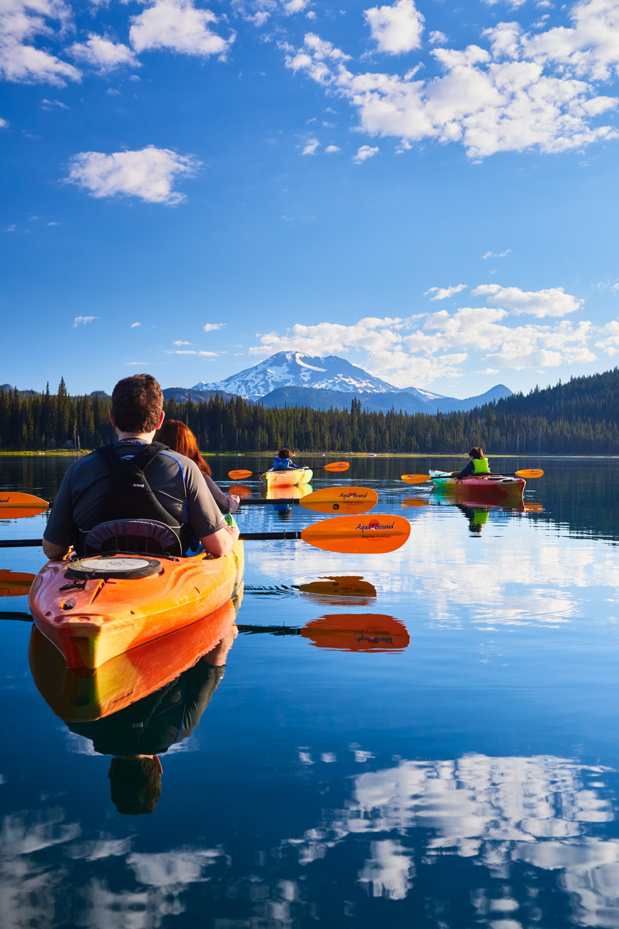 Amazing views in Central Oregon from kayaks in Elk Lake