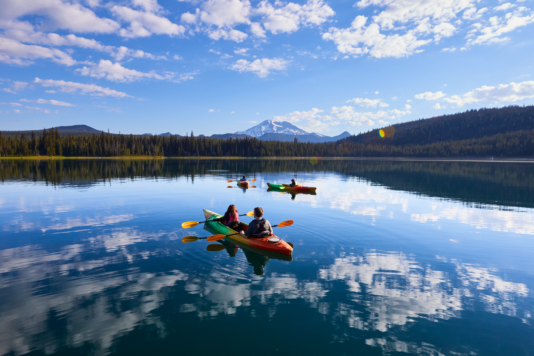 Kayaking on Elk Lake for Central Oregon Visitors Assoc.
