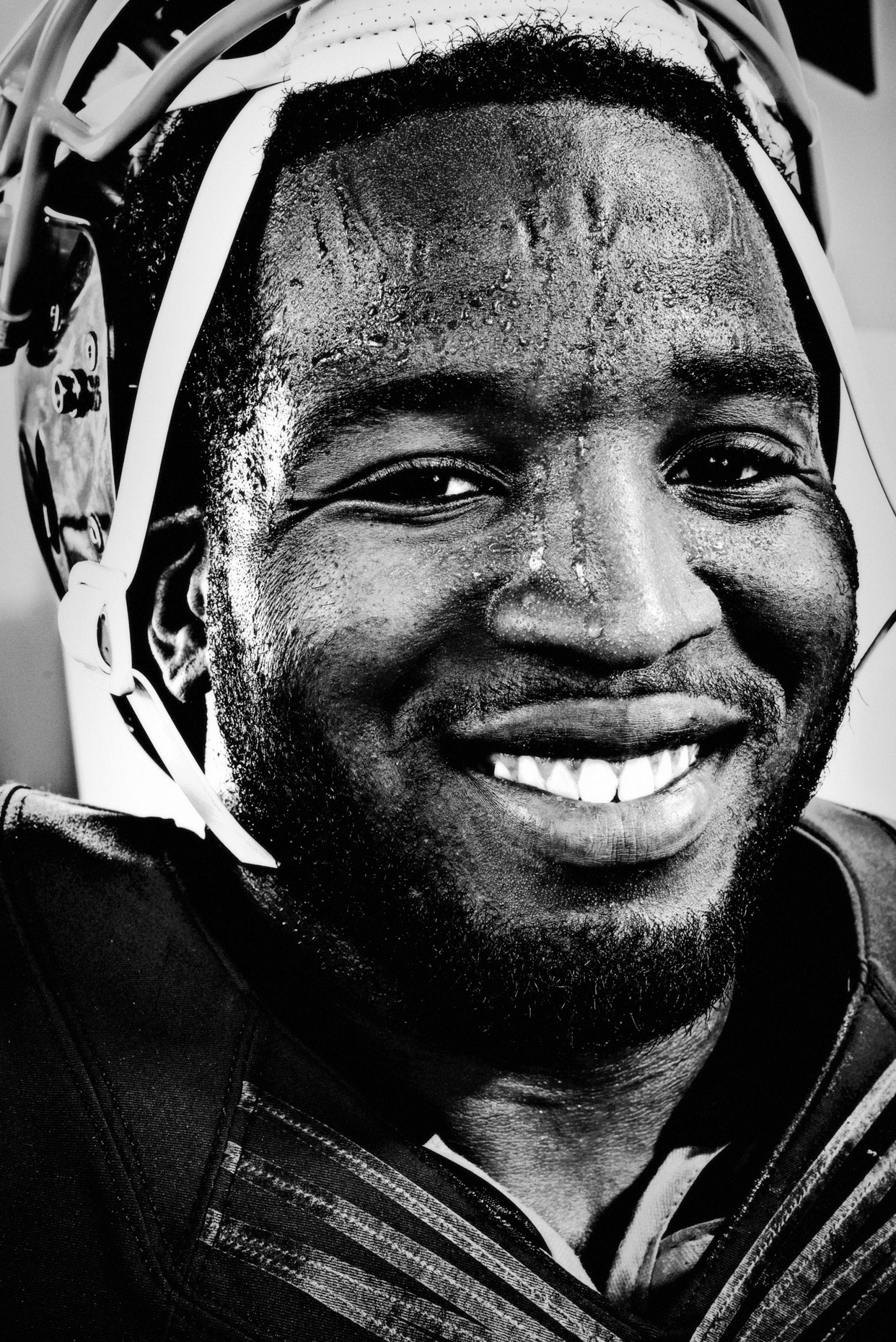 sport portrait of NFL player Alfred Morris by Andy Batt