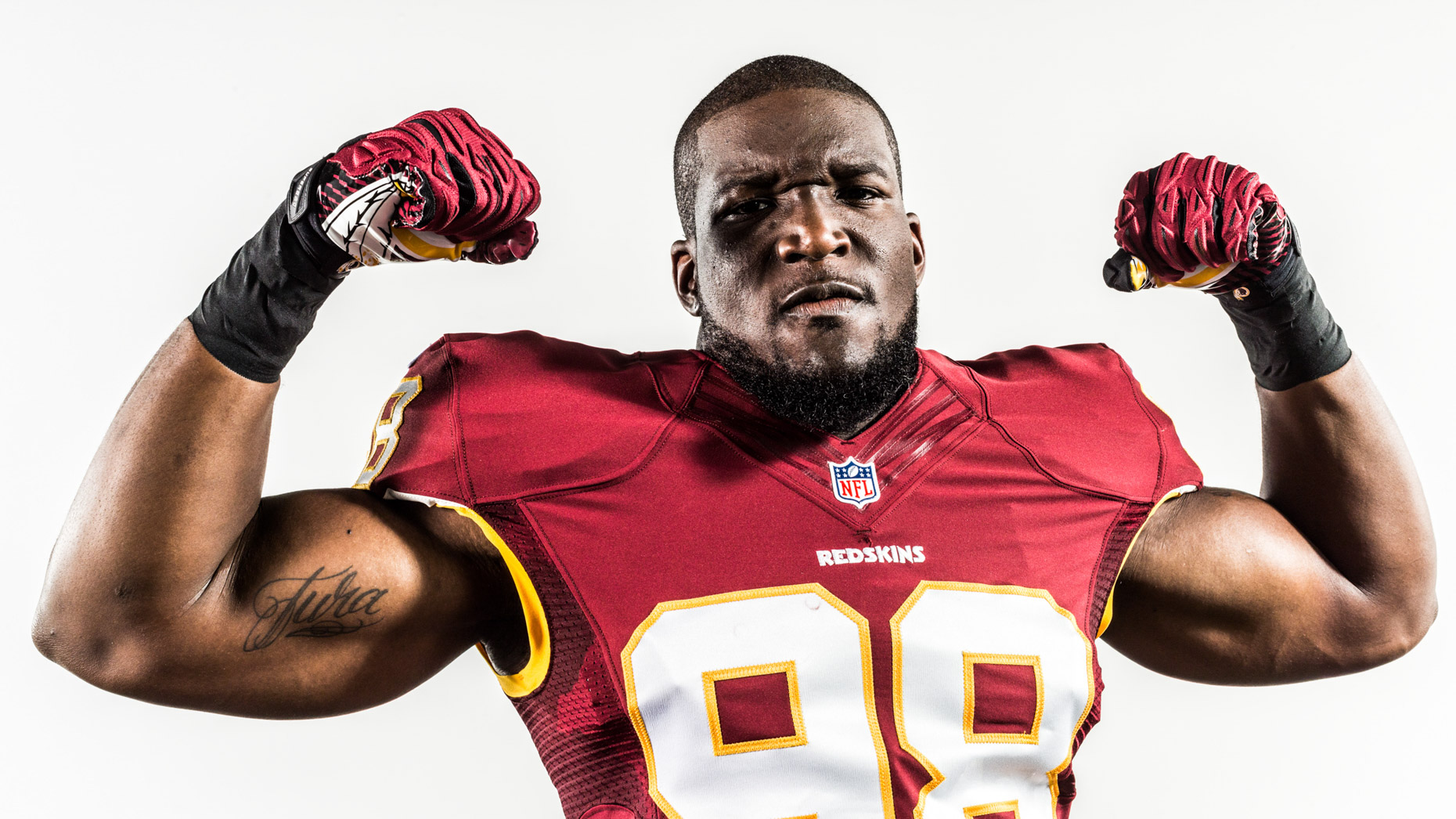 NFL football player Brian Orakpo photographed by sport shooter Andy Batt