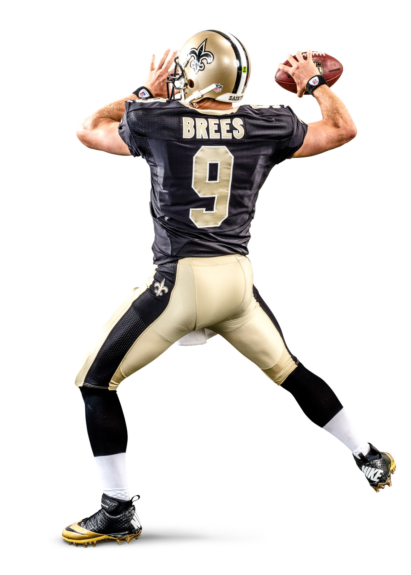 Drew Brees is an American football quarterback for the New Orleans Saints of the National Football League