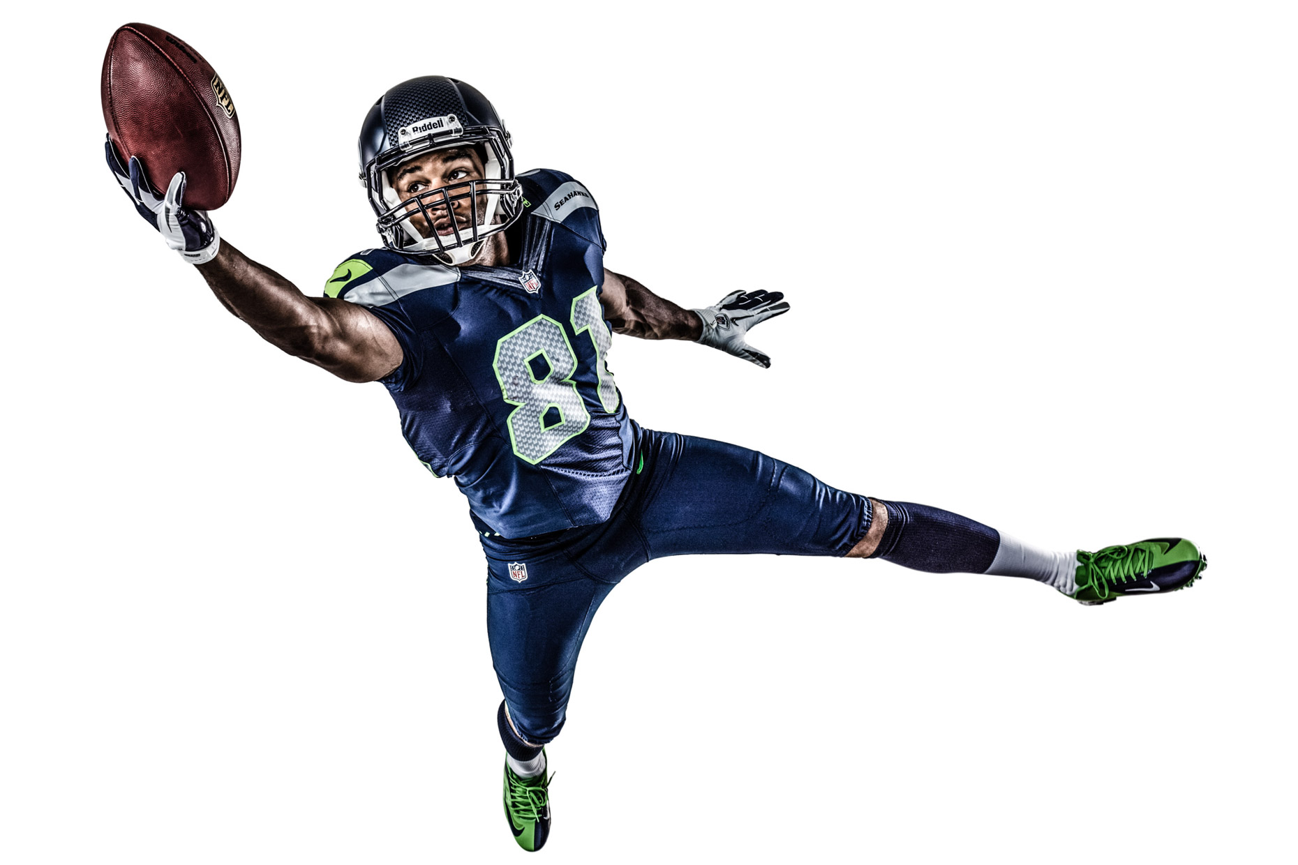 NFL player Golden Tate by sport photographer Andy Batt.